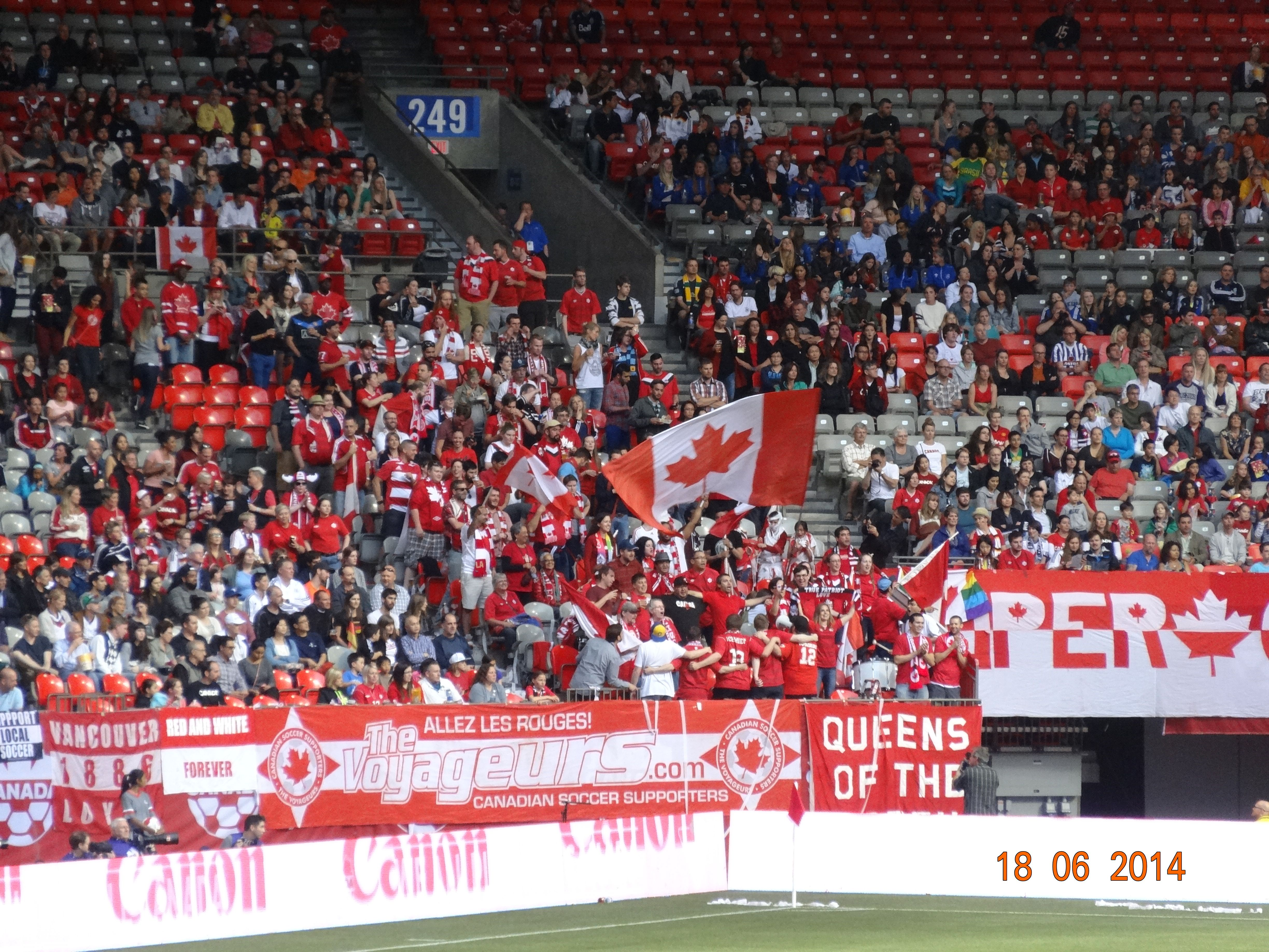 Canadian Fans at the Canada's Women's National Team vs Germany