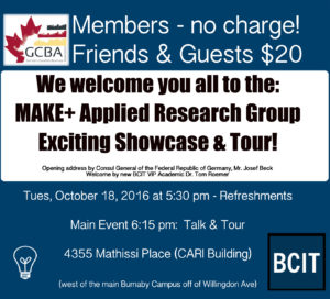 BCIT Make+ Applied Research Tour