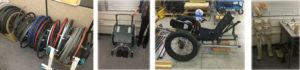 Four wheelchairs