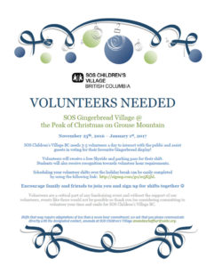 Volunteers Needed for SOS Kinderdorf
