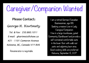 Companion/Caregiver