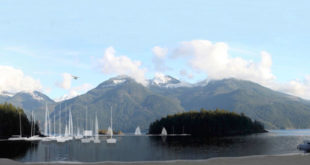 Sailboats in Jervis Inlet