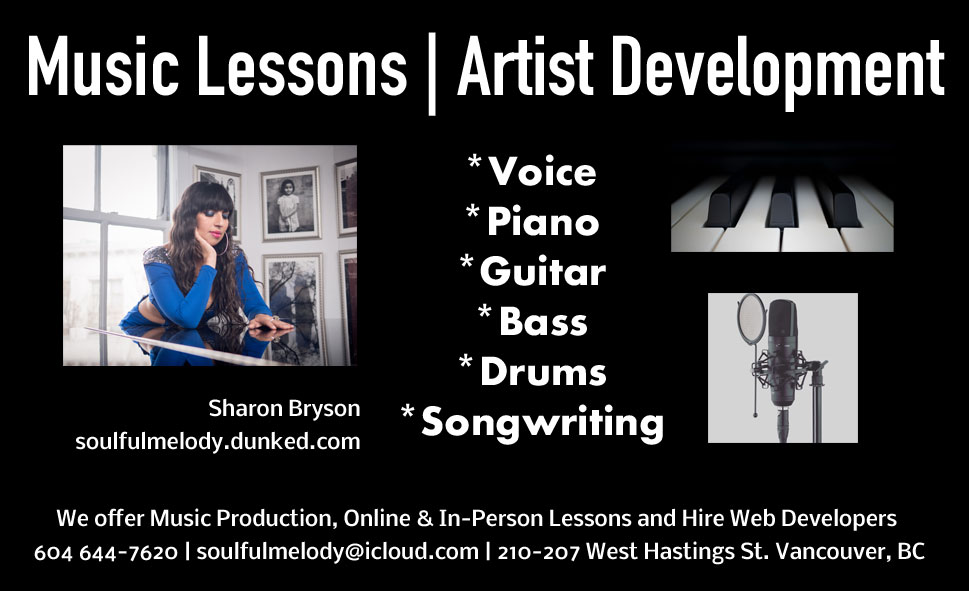 Sharon Bryson Piano Lessons Ad